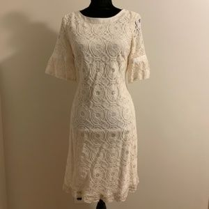 White Lace Liz Claiborne Dress